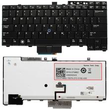 US клавиатура для ноутбука Dell Latitude E6400 E6410 E5500 E5510 E6500 E6510 M2400 M4400 E4300 E5400 клавиатура с подсветкой Trackpoint