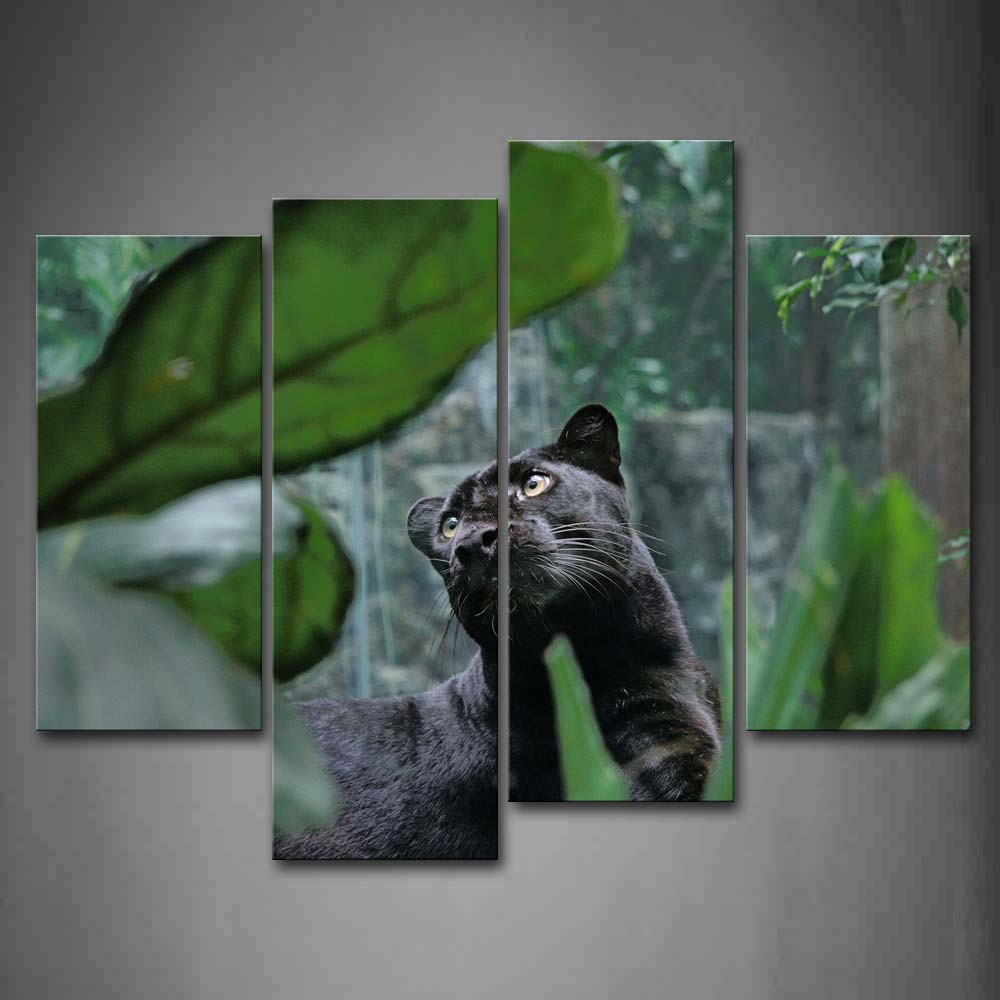 Framed Wall Art Pictures Panther Tree Canvas Print Animal Poster With Wooden Frame For Home Living Room And Office DecorFramed Wall Art Pictures Panther Tree Canvas Print Animal Poster With Wooden Frame For Home Living Room And Office Decor