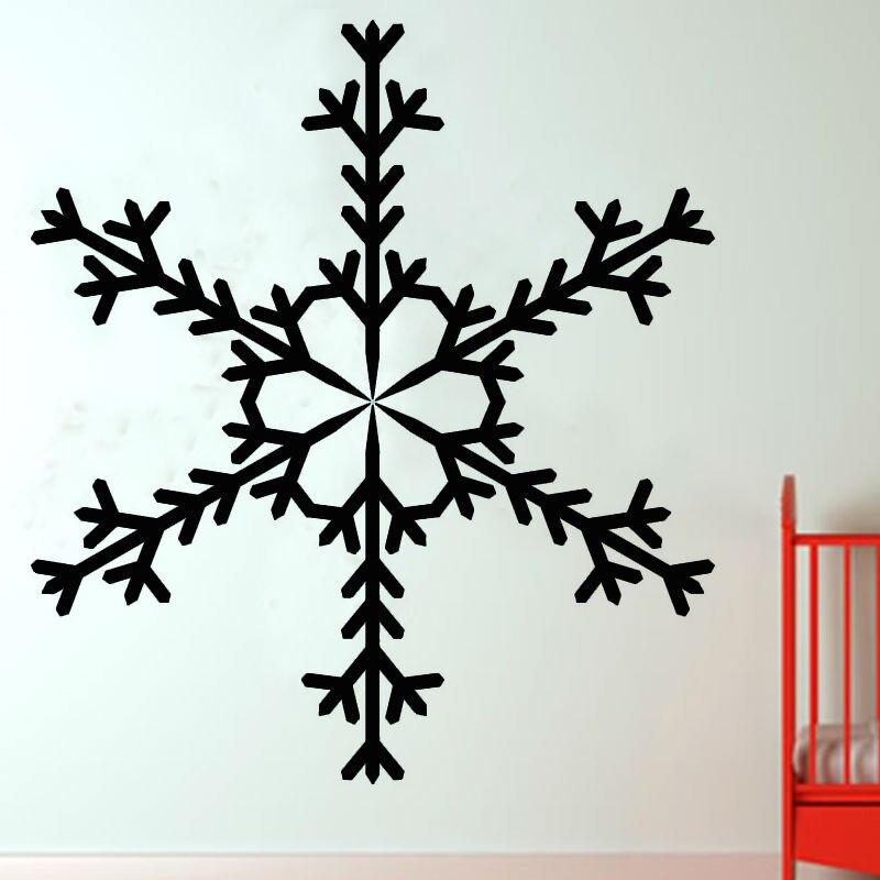 Single Piece Kaleidoscope Pattern Snowflake Wall Decals Kids Bedroom Headboard Decorative Sticker PVC Design