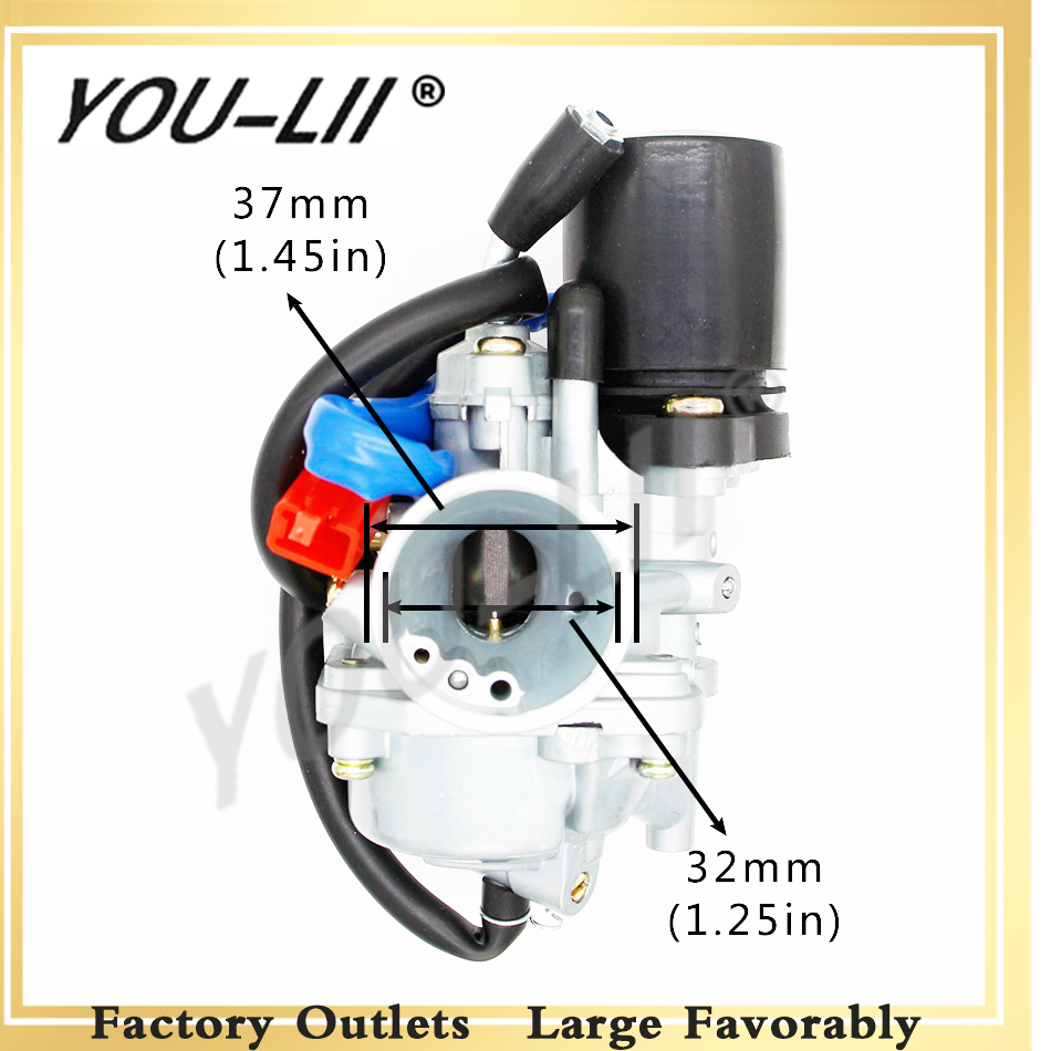 YOULII 19mm <font><b>Carburetor</b></font> Moped Carb for 2 Stroke Piaggio Zip For Yamaha Jog 50 50cc Scooter 50cc <font><b>70cc</b></font> 90cc Mini Carb ATV 1E40QMB image