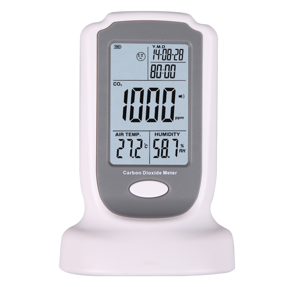Handheld CO2 Meter Monitor Detector GM8802 Carbon Dioxide Detector CO2 Monitor Temperature Humidity Meter digital indoor air quality carbon dioxide meter temperature rh humidity twa stel display 99 points made in taiwan co2 monitor