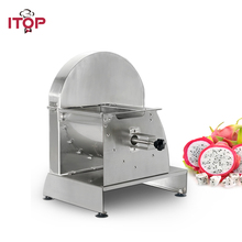 ITOP Manual Vegetable Fruit Slicers Stainless Steel 0.8-12mm Thickness Potato Carrot Tomato Cutter Machine Food Processors stainless steel commercial lemon slicer manual fruit vegetable potato tomato banana slicing machine for tea shop food drying