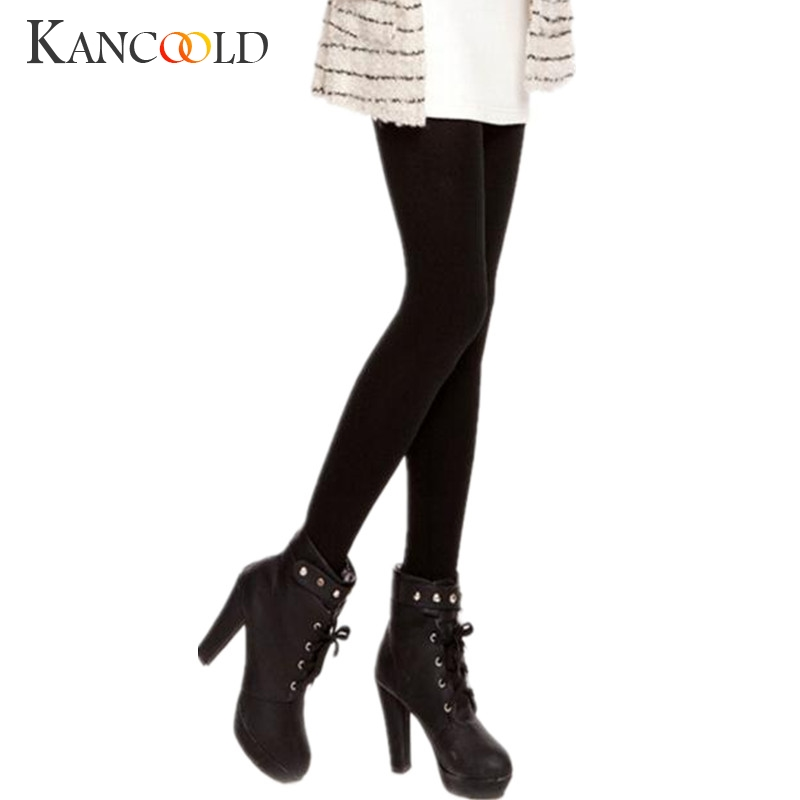 New Autumn Winter Fashion Women Plus Cashmere Tights High Quality Knitted Velvet Tights Elastic Slim Warm Thick Tights Dc9