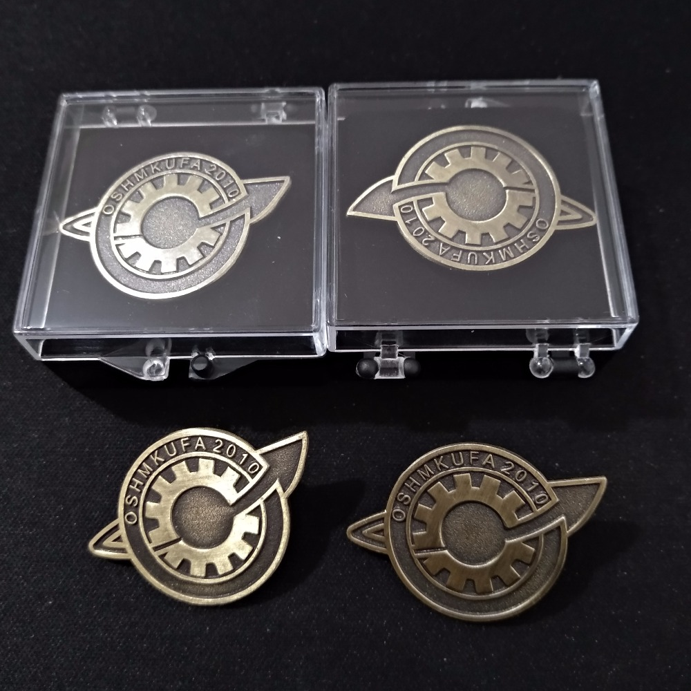 Janpanese Anime Steins Gate Makise Kurisu Labmen Badges Pin Brooch Cosplay The Fate Of The Stone Door Badges Props Accessories