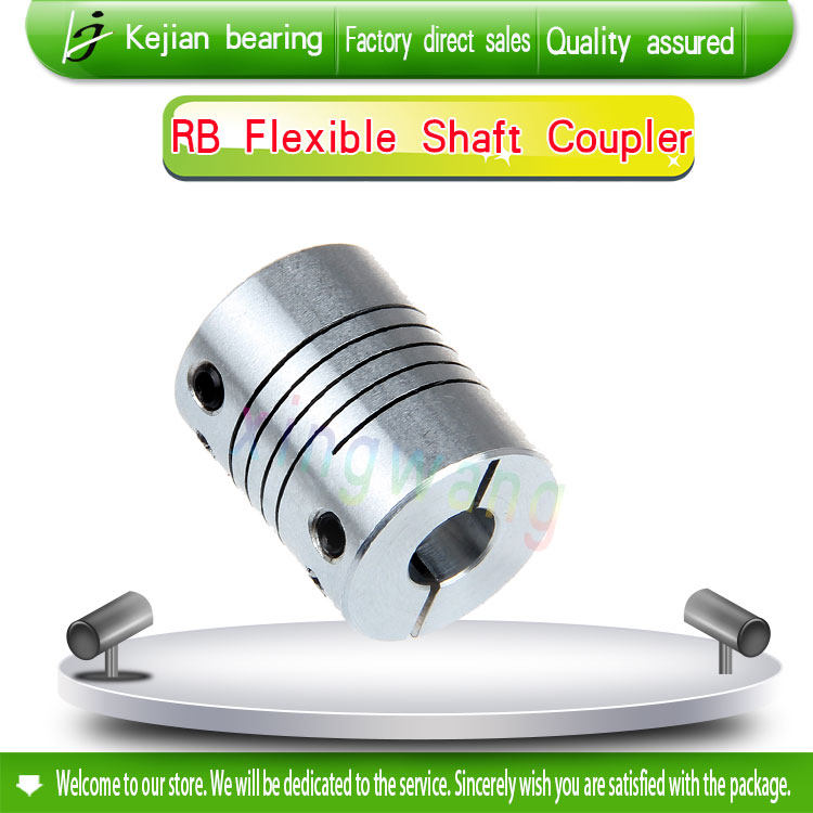 4PCS aluminium linear Shaft Coupler 8mm with 12mm D 25mm L 30mm clamping Flexible Coupling for cnc Stepper Motor image