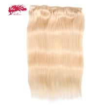 Ali queen волосы прямые полные волосы клип в человеческих волос для наращивания#27/# 1b/#4/#613 remy волосы 5 зажимов в 1 шт. человеческие волосы
