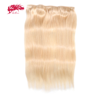 Ali Queen Hair Straight Full Head Clip In Human Hair Extensions #27/#1b/#4/#613 Remy Hair 5 Clips in 1 piece Human Hair