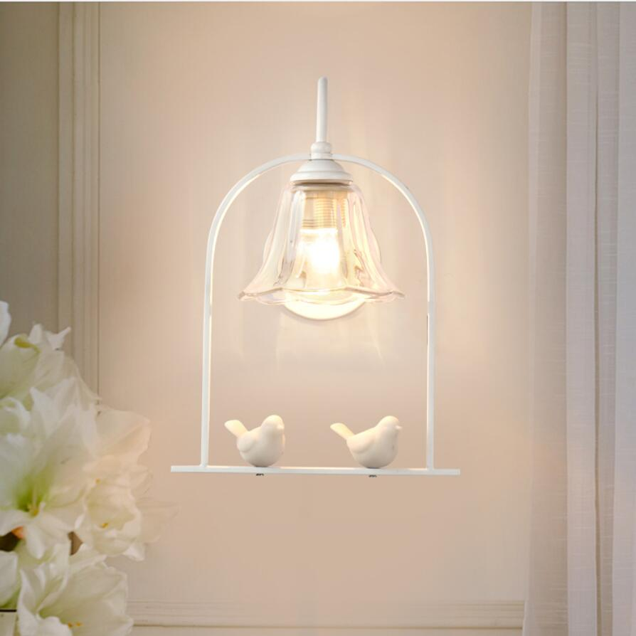Nordic resin bird wall lamp led lamps decoration art wall lamps high power E27 led lighting