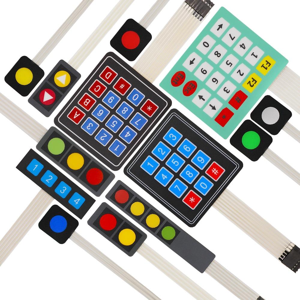 1 2 3 4 12 16 20 Schlüssel 4*4 Membran Schalter Tastatur 1x4 3x4 4*4 4*5 Matrix Array Matrix Tastatur Für Arduino Smart Auto Direktverkaufspreis
