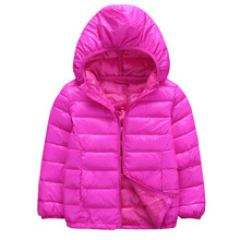 Children Winter Jackets Outerwear Solid Boys Girls Warm Down Hooded Coat Autumn Baby Clothes Kids Down Jacket 4 6 8 10 12 Years brand new children cold winter down girls warm down jackets boys long hooded outerwear coats kids down jackets manteau garcon