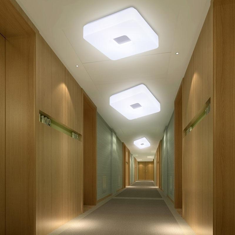12W Modern Led White Ceiling Light For Living Room Bedroom Kitchen Lamp Decor Home Lighting Acrylic Lampshade Luminaria 110-240V