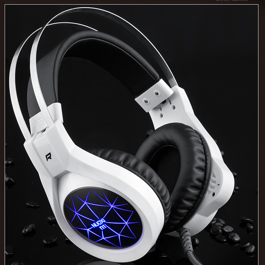 CBAOOO Wire Gaming Headset Headphones Deep Bass Computer Gamer Earphone with microphone LED Light PC fone de ouvido audifonos high quality gaming headset with microphone stereo super bass headphones for gamer pc computer over head cool wire headphone