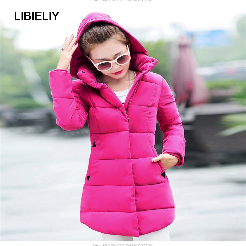 NEW Winter Jacket Women Fashion Winter Coat Padded Cotton Jackets Female Long Parka Hooded Casual Cotton Coat Overcoat C1254 2017 new fashion winter jacket men long thick warm cotton padded jackets coat parka overcoat casual outwear jacket plus size 6xl
