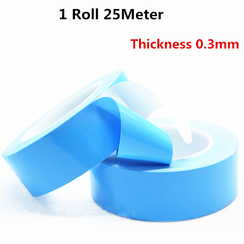 25M*0.3mm Insulating Heat Dissipation Tape Double Sided Heat Thermal Conductive Thermally Conductive Adhesive Tape