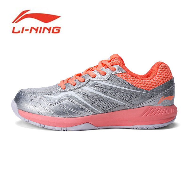 Li-Ning 2018 Women POSEIDON Badminton Training Shoes Anti-Slippery Light Li Ning Sports Shoes Wearable Sneakers AYTN044 li ning professional badminton shoe for women cushion breathable anti slippery lining shock absorption athletic sneakers ayal024