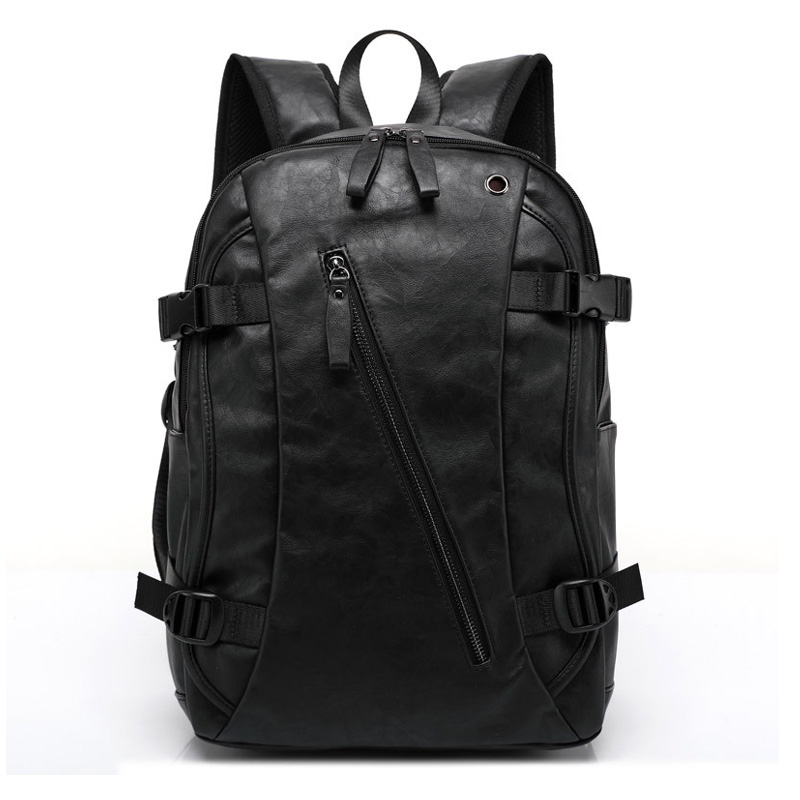 leather laptop backpacks black