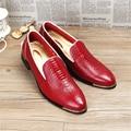 2017 homens de couro de negócios sapatos casuais novos Homens Oxfords rendas up Sapatos de Casamento Vestir Sapatos Masculinos NOS tamanho 9 preto azul sapatos