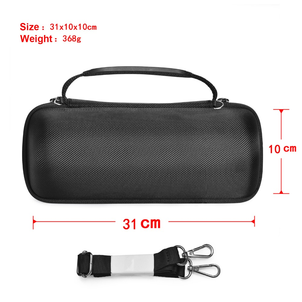 Купить с кэшбэком Newest PU Carry Protective Speaker Box Pouch Cover Bag Case For JBL Pulse 3 Pulse3 Bluetooth Speaker-Extra Space for Plug&Cable