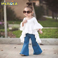 Menoea 2017 Spring New CottonKid baby clothes Girl Casual White Princess Flare Sleeve Dress Cute Fashion Dress Evening dress