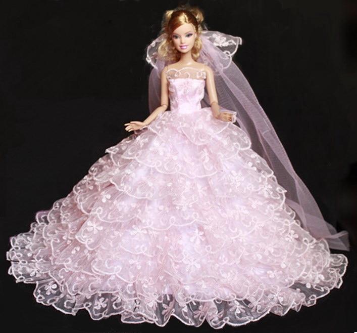 AILAIKI Wholesale Luxurious Nine Layer Wedding Doll Dress Evening ...