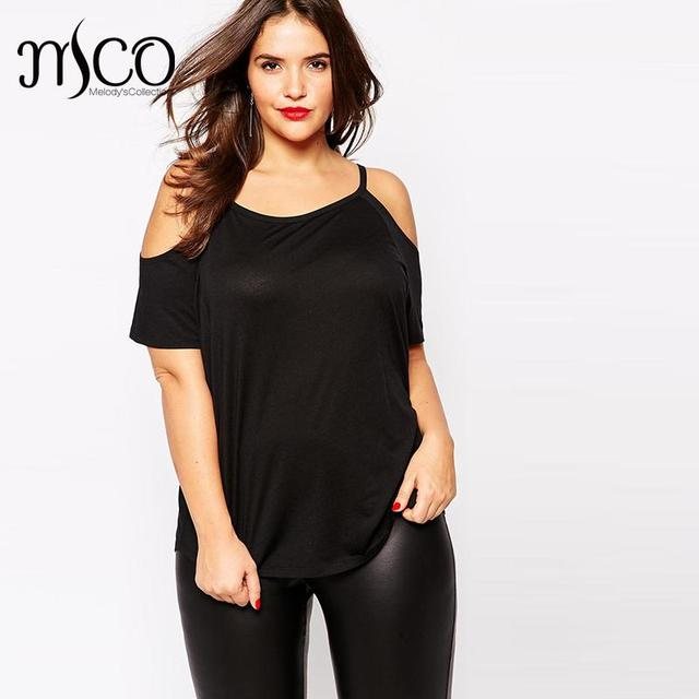 75b8848951 Classic Style Basic Cold Off Shoulder T-shirt Sexy Soft Black Women Tops Plus  Size