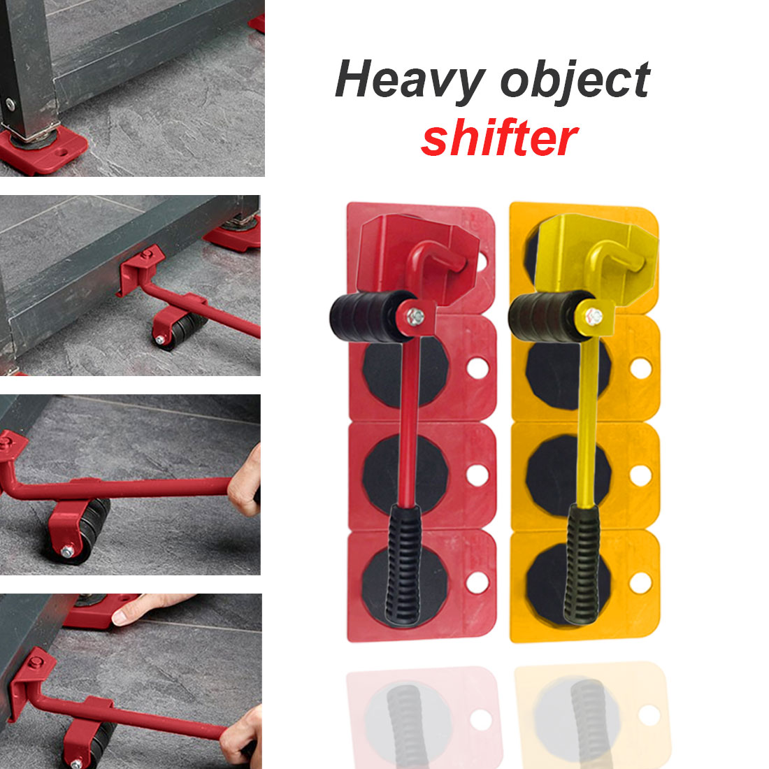 Herramientas Heavy Object Shifter Furniture Shifter Five-piece Mover Heavy Object Mobile Tool Mover Household Hand Tool Se