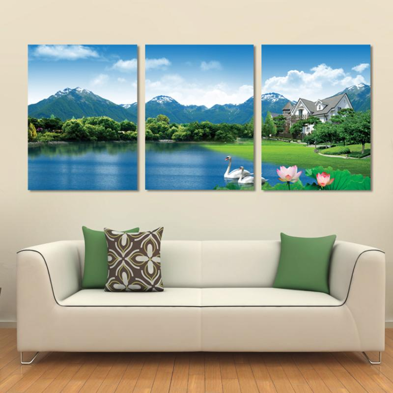 3 Panel Modern Printed Painting Canvas Living
