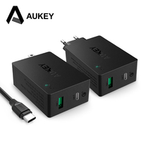 AUKEY USB C Quick Charge 3 0 Type C Dual Port Wall Charger EU US Plug