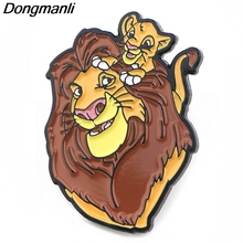 P3889 Dongmanli Fashion Anime The Lion King Cool Metal Enamel Brooches and Pins Collection Lapel Pin Badge Jewelry