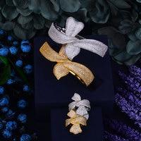 GODKI 37mm Wide Big Fashion Luxury Super Shiny Hollow Corset Design AAA Cubic Zirconia WomenBracelet Bangle