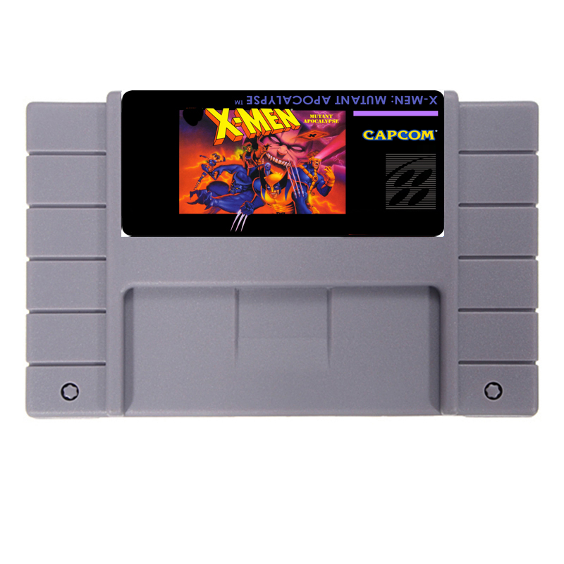 X Для мужчин Mutant Апокалипсис 16 бит NTSC большой серый карточная игра для США Версия