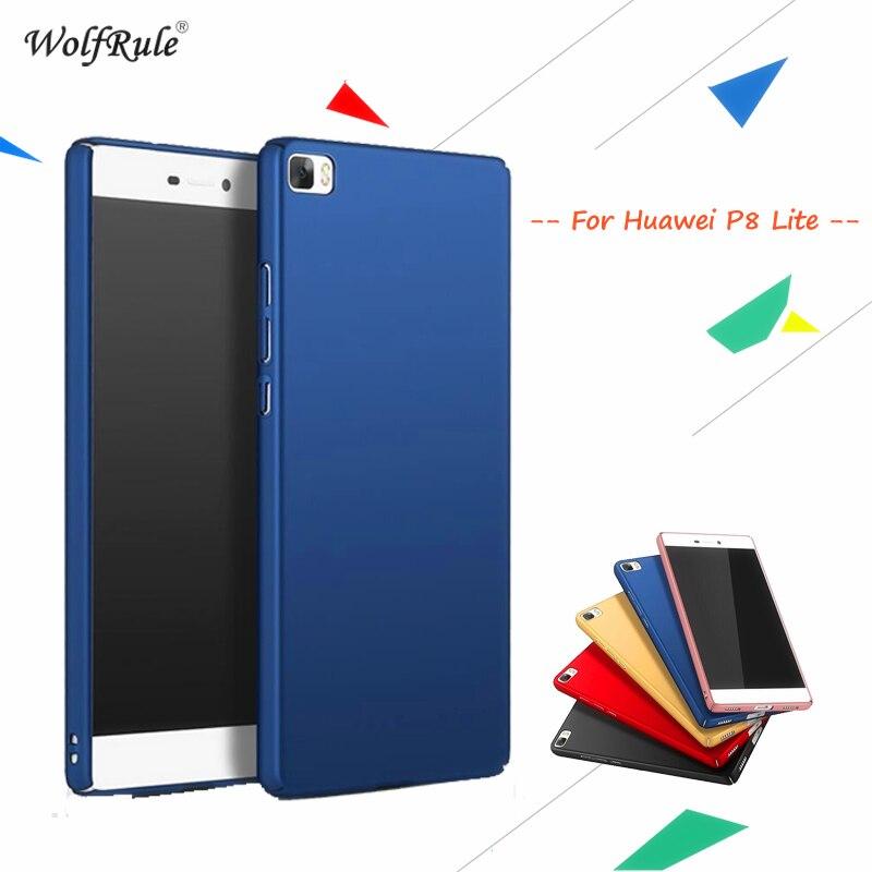 WolfRule För Cover Huawei P8 Lite Fodral Anti Knock Ultratunt slät - Reservdelar och tillbehör för mobiltelefoner