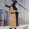 Hot Sale Arrivals  Autumn Women Korean Blending Loose Cardigan Sweater Thick Sweater Coat Girls long B009