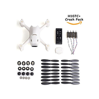 Hubsan x4 H107C+ Plus Replace Spare Parts Crash Pack Kit Battery Motor Prop Body Shell