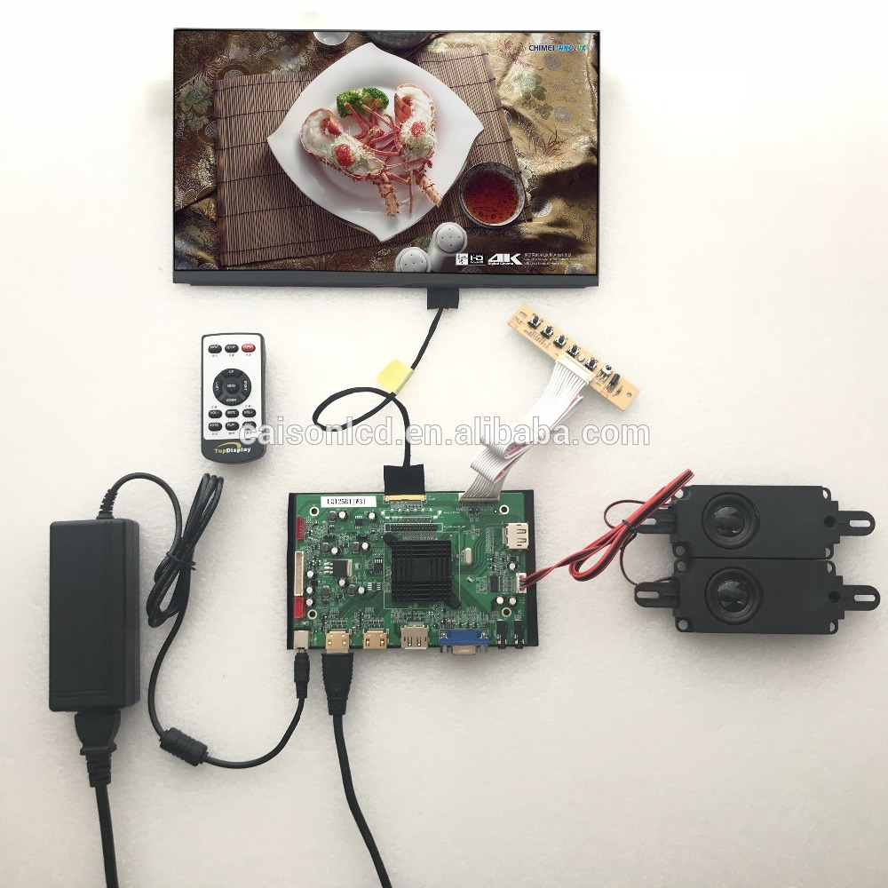 2HDMI+VGA+DP+Audio 4K LCD controller board support 12.5 inch lcd panel LQ125D1JW31 with 3840*2160 touchstone teacher s edition 4 with audio cd