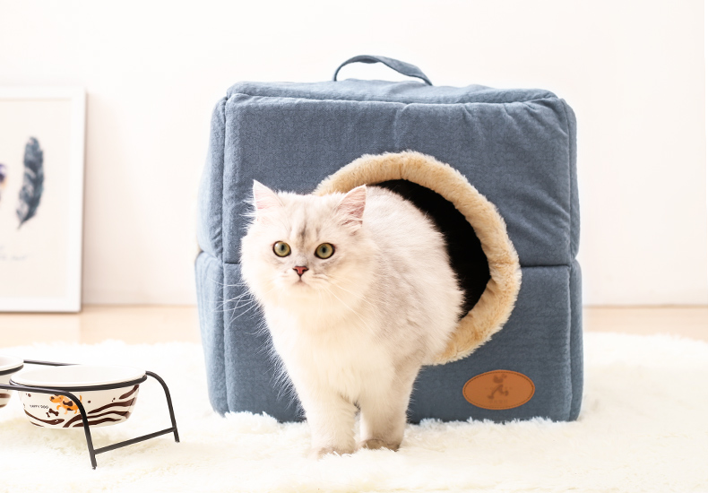 Hoopet New Washable Pets Cat House Cozy Cave Warm Soft Cave Bed Portable Hammock Sleeping Bed for Cat All Seasons (5)
