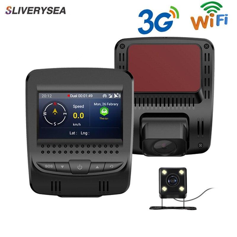 Mini 2.45TFT 3G Car Dvr Camera Dual lens Full HD 1080P Video GPS Track Registrator Dash Recorder G-sensor Night Vision Dashcam 6 86 android 3g car dvr gps camera dash camera full hd 1080p video recorder wifi bluetooth registrator dual lens dvrs dashcam