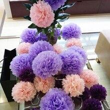 3sets Tissue Paper Pompoms Wedding Decorative Flowers Ball Baby Shower Birthday Party Decoration paper pom poms