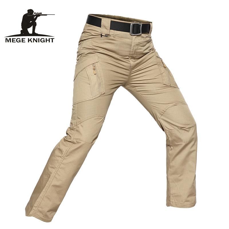 MEGE Men Tactical Fishing Trekking Hiking Camping Skiing Climbing Cycling Outdoor Pants Camo Casual Black Military Cargo Pants 9