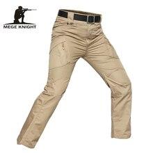 Мужские тактические брюки MEGE, черные камуфляжные брюки карго в стиле милитари для рыбалки, треккинга, Походов, Кемпинга, катания на лыжах, скалолазания, велоспорта
