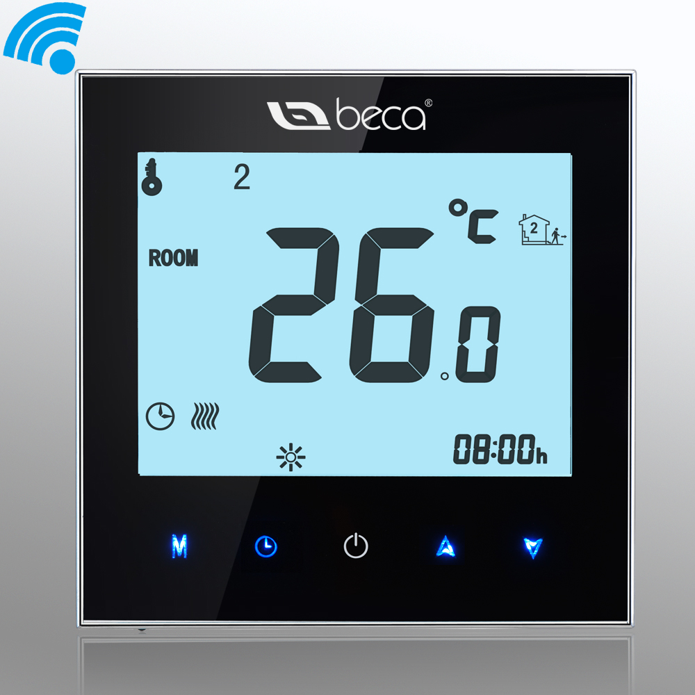 Smart WIFI Thermostat,BECA 95~240VAC LCD Touch Screen ...