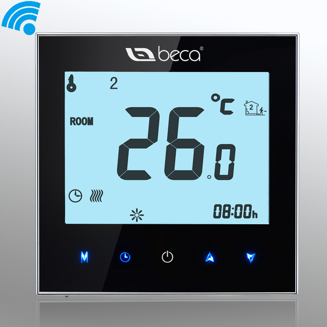 smart wifi thermostat beca 95 240vac lcd touchscreen. Black Bedroom Furniture Sets. Home Design Ideas