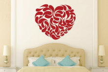YOYOYU Vinyl wall stickers Heart Shape Abstract Pattern Removeable Wall Decal Salon Bedroom Wall Decor Room Decoration ZX257 цена