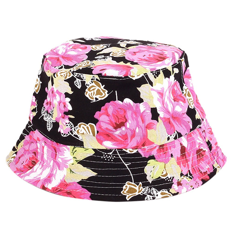 Men Women Bucket Hat Flower Print Cap 2018 Summer Hot Sale Flat Hat Fishing Boonie Bush Cap Outdoor Sunhat Wholesale #FM11 (12)
