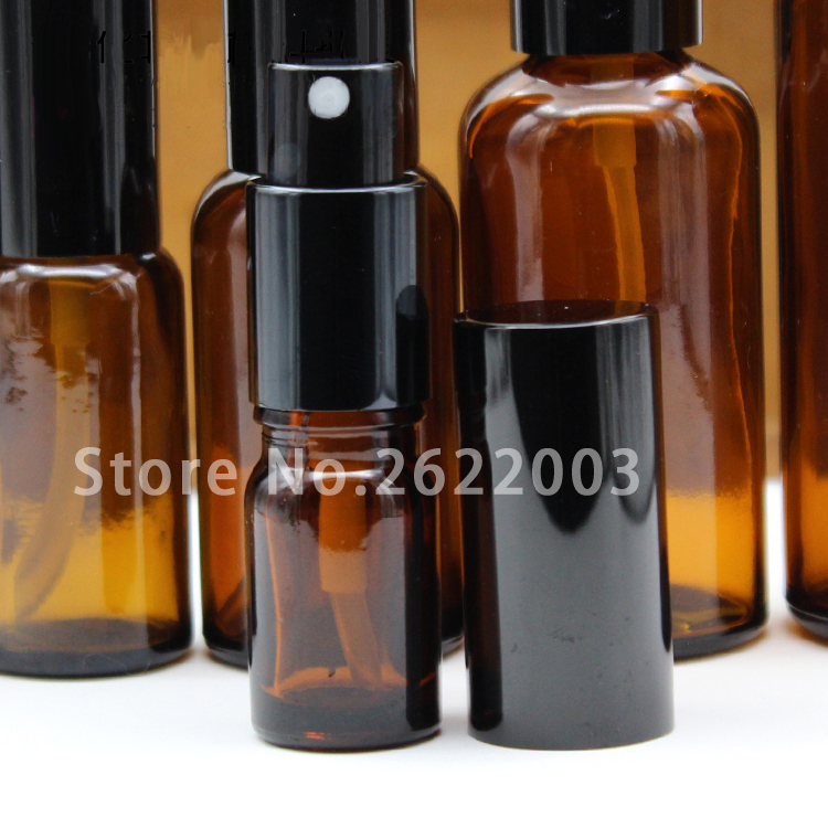 Bottle Brown Colour 100pcs/Lot Spray Glass Oil-Jar Cosmetic-Cream Sub-Bottle/cosmetics