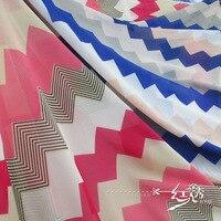 Unique chromatique bande modèle extérieur neige tourne tissu printemps/été chemise robe DIY tissu tissu promotion prix/100*150 cm