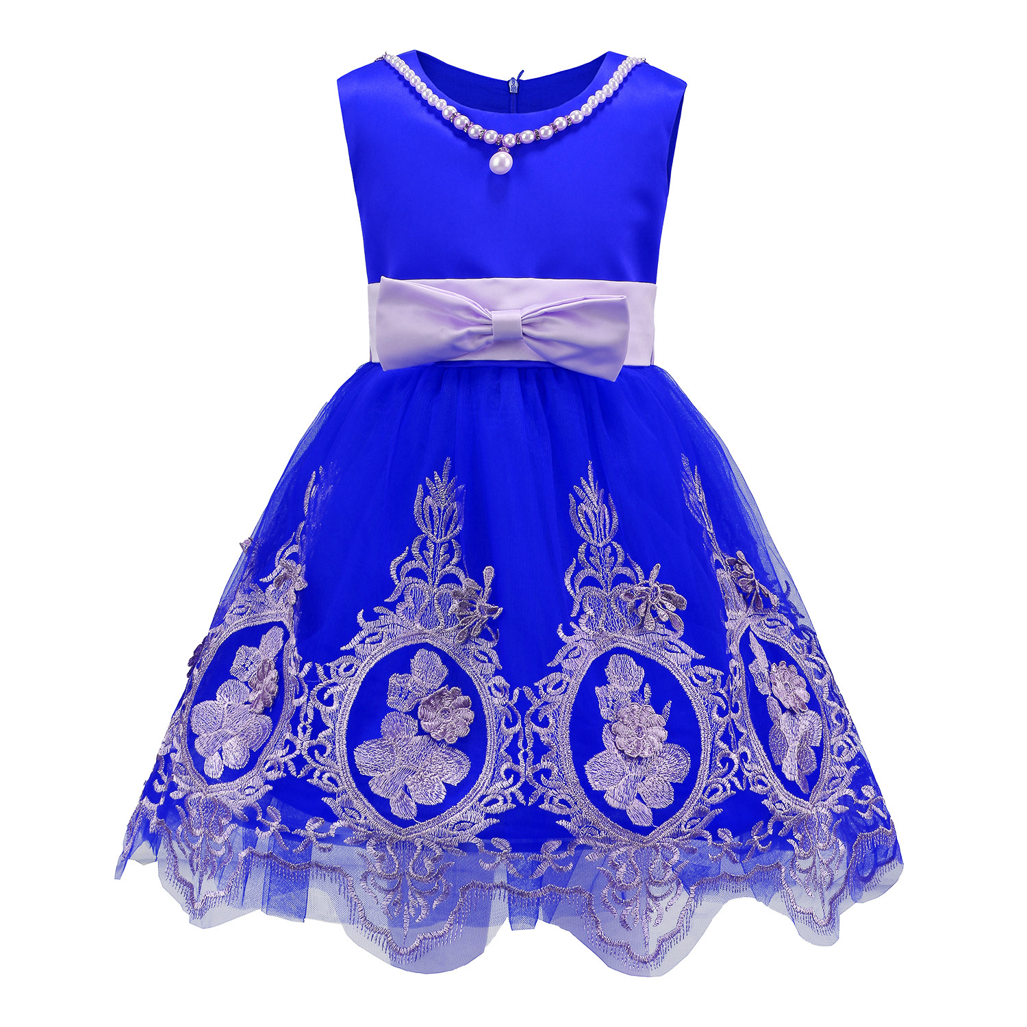 DO DOWER Girls party dresses age 3to12Y children lace embroidery ...