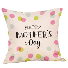 HSU High Quality Cushion Happy Mother's Day Pillow Sofa Bed Home Decoration Festival Cushion letter cushions coussin decoratif(China)