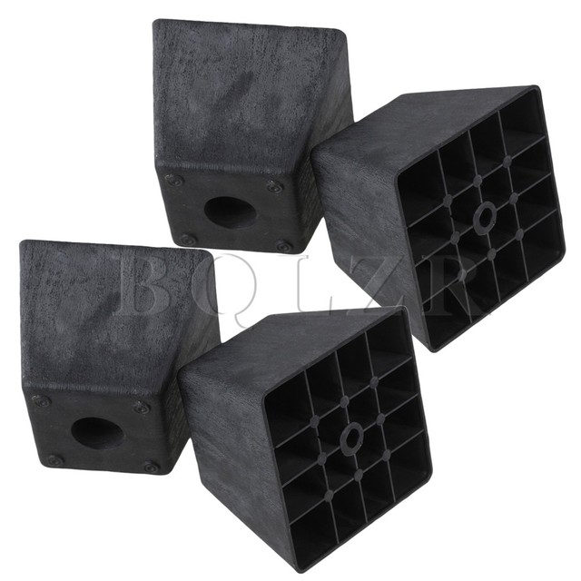 4x Trapez Schwarz Kunststoff Mobel Beine Fur Sofa 80x98x65mm Bqlzr