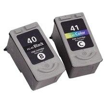 2x PG-40 artefactos CL-41 cartucho de tinta Compatible para Canon Pixma MP140 MP150 MP160 MP180 MP190 MP210 MP220 MP450 MP470 impresora
